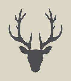 Oh Hirsch! Hirsch Silhouette, Deer Head Silhouette, Silhouette Portrait, Silhouette Design, Deer Tattoo, Christmas Deer, Winter Christmas, Scroll Saw, Pyrography