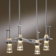 Hubbardton Forge Erlenmeyer Multi-Light Pendant Light - in Clear Modern Chandelier, Chandelier Lighting, Modern Lighting, Interior Lighting, Lighting Ideas, Erlenmeyer Flask, Multi Light Pendant, White Art, Light Colors