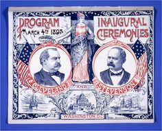 Cleveland-Stevenson inaugural ceremonies program, 1893. Grover Cleveland is the only President to have served two non-consecutive terms, first in 1885 and again later in 1893. He is, therefore, referred to as the 22nd and 24th President of the United States. #inaug2013