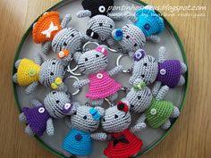 Mini kitty keychains