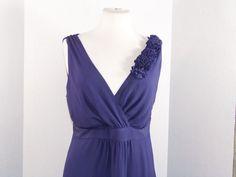 Boden Maxi Dress100% Silk Violet-Blue, size 10 NWOT #Boden #Maxi #Casual