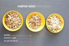 pumpkin seeds three ways