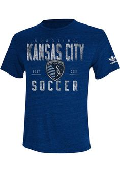 Sporting Kansas City Adidas Fashion T-Shirt - Navy Blue Classic Tri-Blend Short Sleeve Fashion Tee
