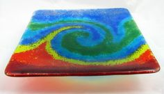 Fused and slumped glass plate