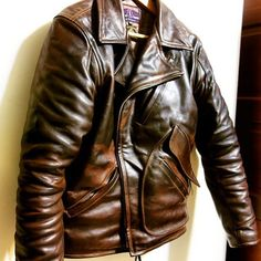✸This Old Stomping Ground✸ — ELMC Windward Horsehide motorcycle jacket, made in...