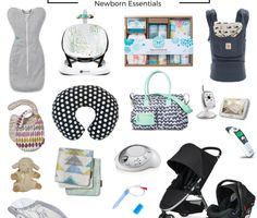 A great list of new baby basics - things that you REALLY NEED and will USE. Love the prints and design choices too.