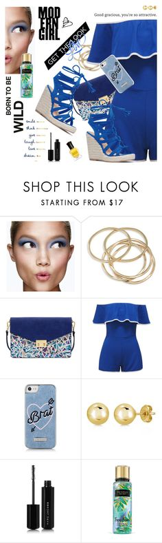 """Wild Blue"" by cheesyxshirleyxo ❤ liked on Polyvore featuring Clinique, ABS by Allen Schwartz, Mellow World, Skinnydip, BERRICLE, Marc Jacobs, Deborah Lippmann and ruffles"