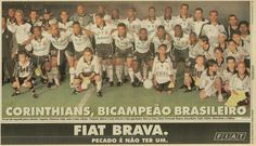 Sport Club Corinthians Paulista - Brazilian Champion 1999 - Players: (Standing Left to Right) Augusto, Mauricio, Dida, Joao Carlos, Gilmar, Vampeta, Marcio Costa, Rincon and Edu; (Squatting Left to Right) Marcos Sena, Dinei, Fernando Baiano, Ricardinho, Indio, Kleber, Marcelinho Carioca and Edilson. Coach: Oswaldo de Oliveira.