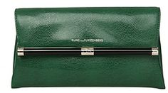 440 Envelope Embossed Lizard Clutch In Emerald on shopstyle.com