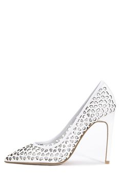 Jeffrey Campbell Shoes DULCE Heels in White Heart Punch