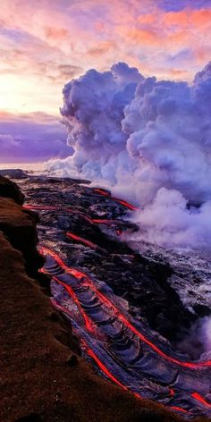 Was just on the Big Island and went to see the Kilauea Volcano. We could not get close this time because it was flowing inland. This is an older photo of Kilauea, Hawaii. Beautiful World, Beautiful Places, Fuerza Natural, Dame Nature, Natural Phenomena, Science And Nature, Natural Wonders, Belle Photo, Amazing Nature