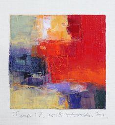 "June 17, 2018 9 cm x 9 cm (app. 4"" x 4"") oil on canvas  © 2018 Hiroshi Matsumoto www.hiroshimatsumoto.com"