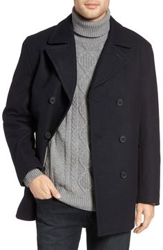 New jacket ideas: Michael Kors Wool Blend Double Breasted Peacoat available at #Nordstrom