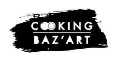 Logo-Identité visuelle du lieu-atelier cuisine COOKING BAZ'ART, paris