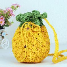 Pineapple Cute Lolita Bag Summer Beach Straw Bag Vrouwen Messenger Shoulder Bag #Unbranded #MessengerCrossBody