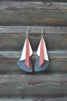Handmade Leather Earrings from Thailand #140 · Purchase Effect · Online Store Powered by Storenvy