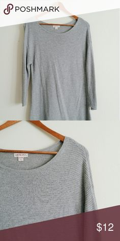 Merona Grey Knit Top Size XS Merona knit top. 3/4 length sleeves. Gently worn and in great condition. Merona Tops Blouses