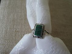 Sterling Jade Ring by mimiyaya on Etsy, $20.00