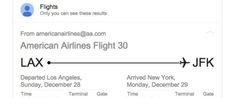 "Google's Greatest Travel Hack Will Make Flights MUCH Easier - If you're logged into your Gmail account and type the words ""Flight Status"" into Google, the search engine will pull up your personal flight info including your confirmation number, seat, terminal, every email associated with that flight and more."