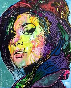 """Amy Winehouse - Back to Blue"" pop art painting by artist Dean Russo available at Saatchi Art #AmyWinehouse"