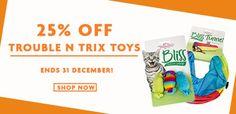 Bargain - 25 % Off - Trouble n Trix Toys @ Petpost