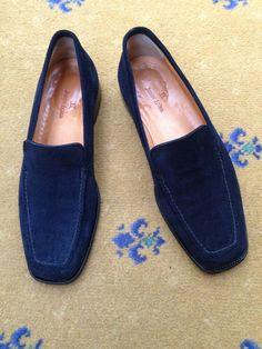 2450f502682 eBay  Sponsored John Lobb Men s Blue Suede Loafers Shoes UK 8 US 9 EU 42  Moccasin