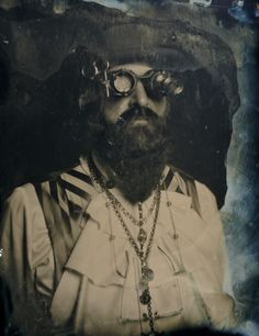 Steampunk Professor Adam Smasher.  2013, 4x5 Tintype by Sean McCormick photography, nyc, Modern Tintype, Dry Plate Tintype, large format photography, antique photographic process, sean-mccormick.com, NYC tintype, commercial tintype.