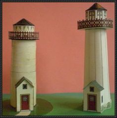 Two Lighthouse Paper Models Free Templates Download - http://www.papercraftsquare.com/two-lighthouse-paper-models-free-templates-download.html