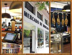 Mercado de MONCLOA - Cl Arcipreste de Hita, 10 - 28015 Madrid - Junto al Hotel EXE. Nuevo espacio gastronómico, informal, asequible en precios, con variedad de opciones culinarias (pinchos, sushi, carnes, marisquito, embutidos selectos...)