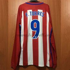 Billiga Fotbollströjor Atletico Madrid 2016-17 Fernando Torres 9 Långärmad Hemmatröja