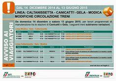 La Linea Caltanissetta-Canicatti'-Gela-Modica resterà chiusa sino a giugno 2015 (settembre 2014 - giugno 2015) | Comitato Pendolari Siciliani