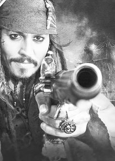 ~ † Johnny Depp † As Captain Jack Sparrow † In The Pirates Of Caribbean Trilogy † Captain Jack Sparrow, Funny Movies, Good Movies, Horror Movies, Elisabeth Swan, Hollywood Action Movies, Here's Johnny, The Lone Ranger, Pirate Life