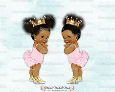 ♥ Princess Ruffle Pants sisters. One with 2 ponytails and one with 1. Comes with the two images together facing each other and separately as individual images. ♥ You will receive 3 (9 high) images in transparent PNG format 300 dpi. ►Pink: https://www.etsy.com/listing/506492632/