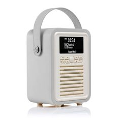 Retro Mini DAB+ Radio & Bluetooth Speaker - Light Grey