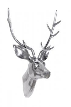 Nickel Stag Head Trophy from Ivory Pearl Interiors...for the new house!
