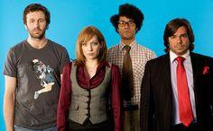 The IT Crowd: Roy, Jen, Moss, and Douglas