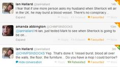 Amanda Abbington and Ian Hallard in twitter (aka perfection).