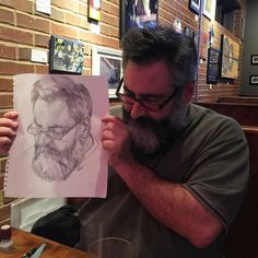 Check out this awesome portrait @m.thrush made of me! #atlsketchsociety #getsketchy23