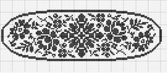 Oval 14 | Free chart for cross-stitch, filet crochet | Chart for pattern - Gráfico