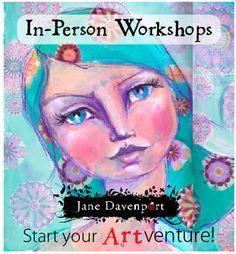 Artist Jane Davenport and her live-workshops