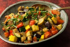 Ratatouille – Chowhound - This recipe for ratatouille has quick-cooked eggplant, summer squash, tomatoes, bell pepper, and onion that are tender but not mushy.
