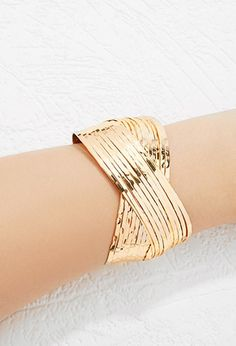 Etched Crisscross Cuff | Forever 21 - 1000156287