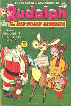 from 1950 thru National published an annual issue of Rudolph the Red Nosed Reindeer which consisted of comics, puzzels and games. Christmas Comics, Christmas Albums, Christmas Toys, Christmas Things, Vintage Christmas Cards, Retro Christmas, Christmas Carol, Rudolph Red Nosed Reindeer, Rudolph The Red