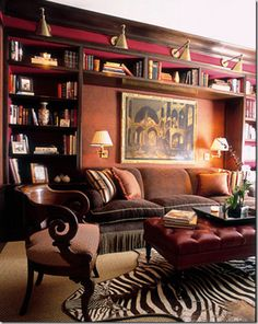 Burgundy and brown...interesting combination....