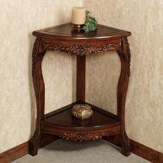 Ordinaire Victoriana Corner Pedestal Table