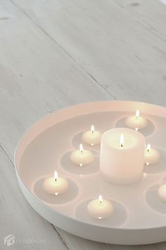 Get Creative This Chanukah With A Floating Candle Menorah Hanukkah Music, Hanukkah Lights, Hanukkah Crafts, Hannukah, Christmas Projects, Christmas Diy, Diy Design, Design Ideas, Floating Candles