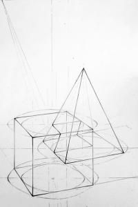 Basic Drawing, Drawing Base, Technical Drawing, Drawing Lessons, Origami Architecture, Architecture Images, Structural Drawing, Shadow Drawing, Geometric Drawing