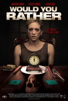 """Would You Rather is a 2012 American horror thriller feature film based on the party game """"Would You Rather"""", directed by David Guy Levy from a screenplay by Steffen Schlachtenhaufen The movie stars Brittany Snow, … Streaming Movies, Hd Movies, Movies Online, Movies And Tv Shows, Movie Tv, Hd Streaming, Slasher Movies, 2012 Movie, Scary Movies To Watch"""