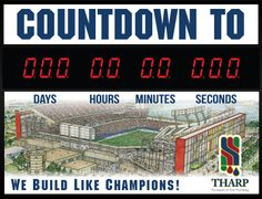 A Custom Countdown Clock to the Citrus Bowl for awarded contractor Tharp Plumbing Systems