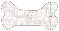 free dog bone pillow pattern | Website visitors have permission to print this project for personal ...